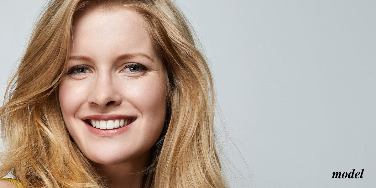 Natural Image_Dysport_Image_Blonde with green eyes smiling
