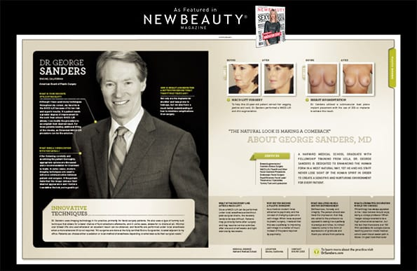 Innovative Techniques Ad in New Beauty Magazine Screenshot