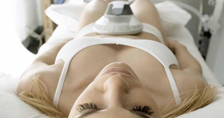 Ariel View of Women in Surgical Bed Receiving Emsculpt Treatment