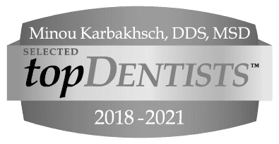 Top Dentist 2018 to 2021 Logo