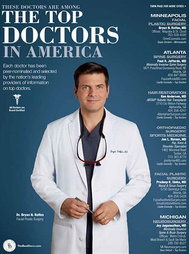 Dr. Bryan Rolfes Magazine Cover for Top Doctors in America