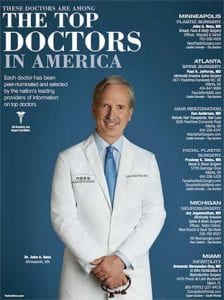 Dr. Ness's Front Cover Feature for the Top Doctors in America