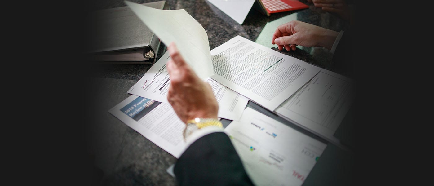 Financial Planning - Financial Advisory Team Notes and Paperwork