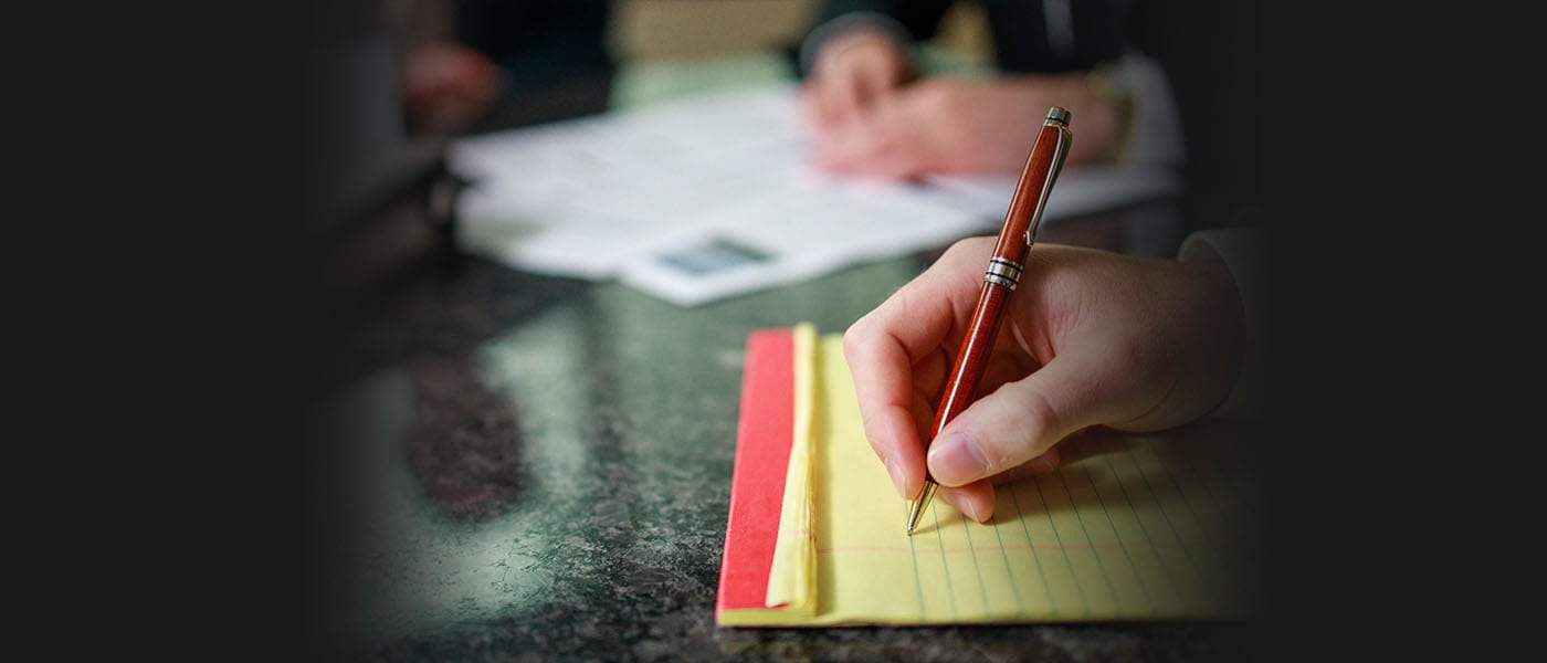 Tax Planning Services - Financial Advisory Group Taking Notes
