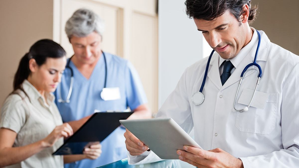 Doctors Reviewing Patient Information