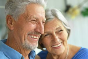 Close Up Of Mature Couple Smiling