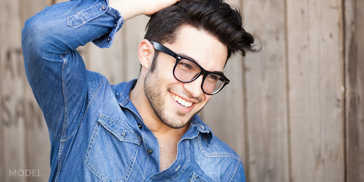 man-with-black-glasses
