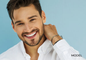 Handsome Smiling Man with Straight White Teeth