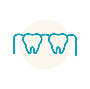 overgrown gums icon