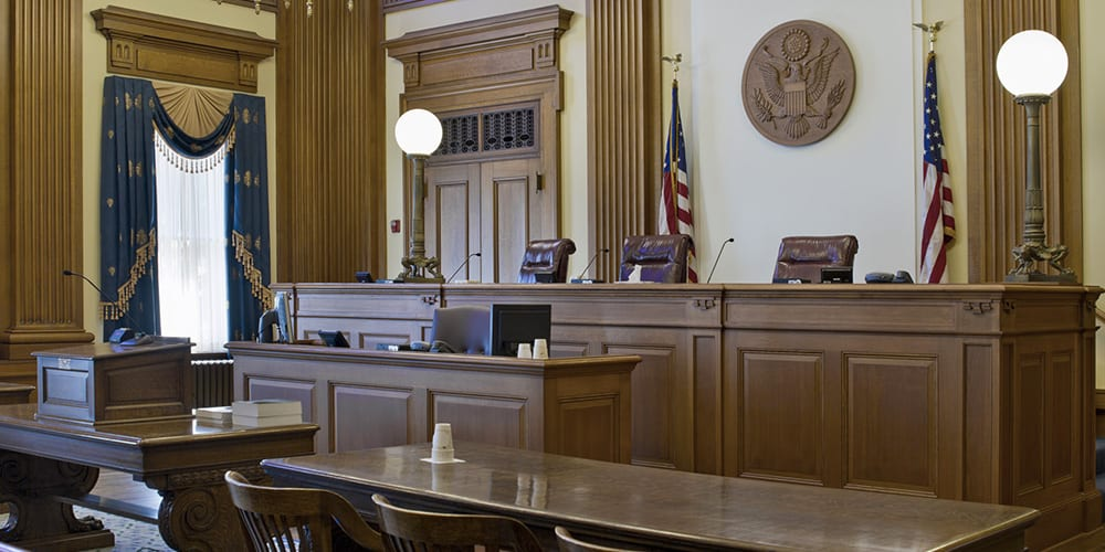 United States courtroom