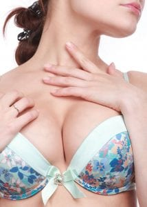 Large Female Breasts in Floral Bra