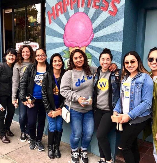 SF Oral Team in Front Of Ice Cream Mural