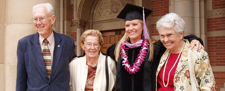 Dr. Beck at Her Graduation with Family Copy 1