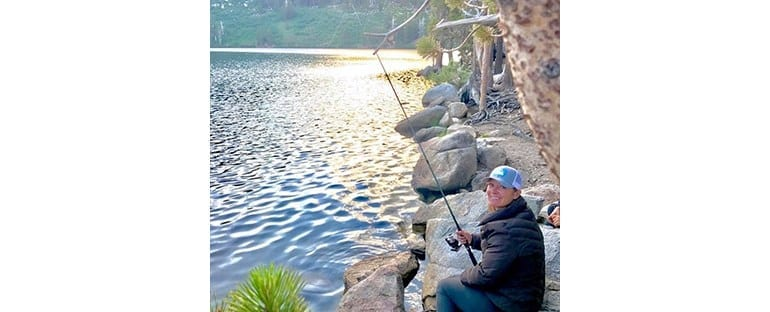 Dr. Beck Fishing in a Lake